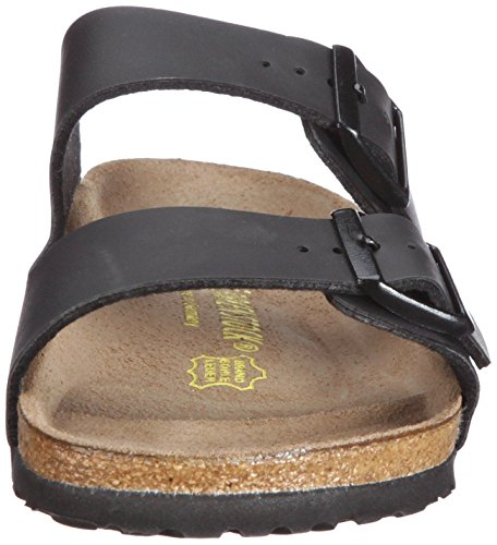 Birkenstock Arizona Noir Gum Hommes Cuir Sandales Chaussures
