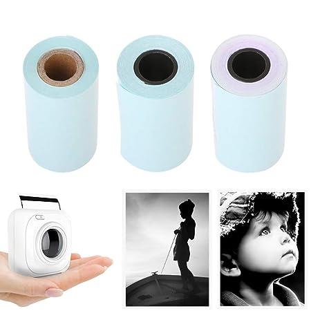 Newhashiqi - Papel adhesivo térmico para impresora, 3 rollos ...