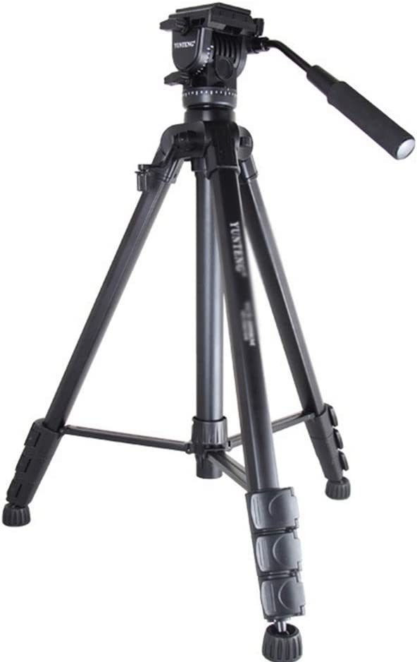 AiKuJia Tripod Portable Tripod Outdoor Compact Aluminum Camera Tripod Monopod Suitable for Mobile Digital Camera Work Lightweight Color : Black, Size : One Size