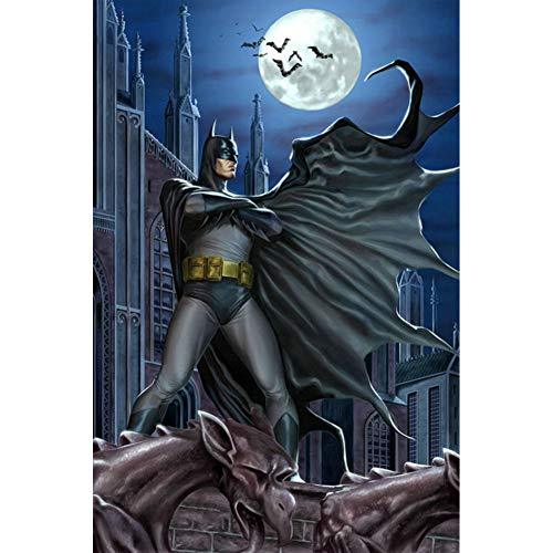 CNIAO Batman Diamond Painting eigen foto Unicorn Custom Consideration Regional Past Diamond Painting Christmas Cards Horror Halloween-50x70cm]()