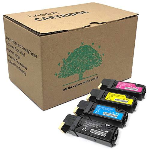 Dell 1320c Toner Cartridges Compatible for Dell 2135CN 2130CN 2150cdn 2150CN 2155cdn 2155CN Color Printer 4 Bundle Set High Yield Black Yellow Cyan ()