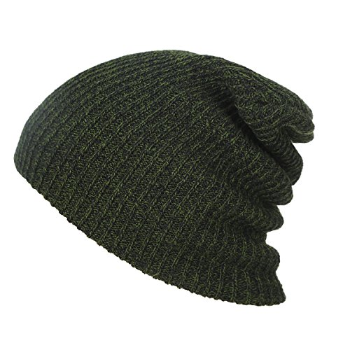 70s Kelly Green (LRRH Neutral Leisure Winter Hat Warm Knit Hat Warm Head Cover Slide Warm Ski Cap (Dark Green))