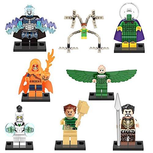 Marvel Superhero Collection Vulture, Doctor Octopus, White Tiger Pack of 8 (White Tiger Marvel Costume)