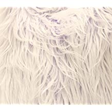 """Faux Fur Long Pile ULTRA MONGOLIAN 2 TONE LAVENDER Fabric / 64"""" W / Sold by the yard"""