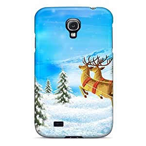 New Snap-on NikRun Skin Case Cover Compatible With Galaxy S4- Santa Merry Christmas by icecream design