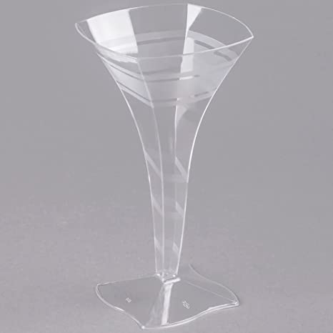 Efavormart 50 Pcs Crystal Collection Clear 8oz Disposable Plastic Martini Glass