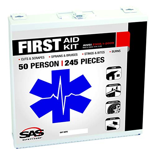 1 First Person Aid (SAS Safety 6050-01 50-Person First-Aid Kit, Metal Box)
