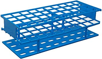 Nalgene 5970-0325 Acetal Plastic Unwire Test Tube Rack for 25mm Test Tubes, Blue
