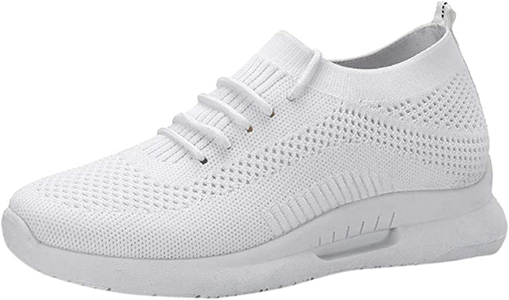 Frunalte Womens Sport Shoes,Fashion Mesh Breathable Lace Up with Platform Sneakers Casual Shoes Student Running Shoes