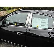 VERSA 2012-2016 NISSAN (4 Pc: Stainless Steel Window Sill Trim, 4-door) WS12530:QAA
