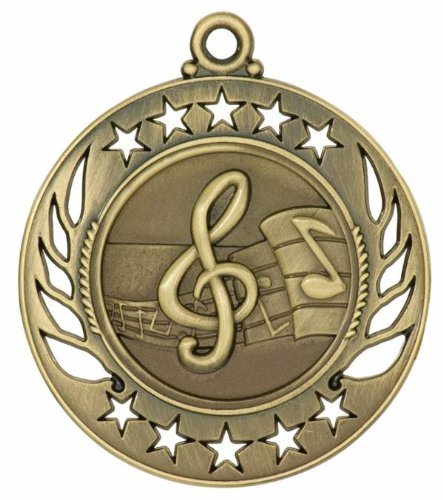 """Trophy Paradise Galaxy - Music Medal 2.25"""""""