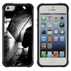 Suave TPU GEL Carcasa Funda Silicona Blando Estuche Caso de protección (para) Apple Iphone 5 / 5S / CECELL Phone case / / Rain City Lights Black White /
