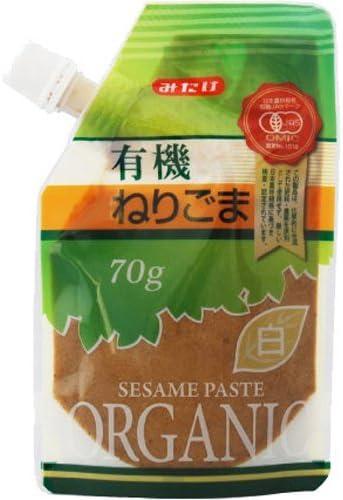 有機 JAS 認定 有機ねりごま 白 70g ×10個 セット (オーガニック 練り胡麻) (混ぜ物無し ごま 100%) (みたけ食品)