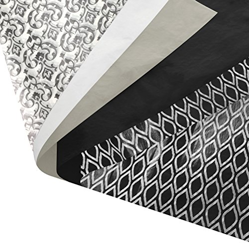 (Black and White Gift Wrapping Tissue Paper Set - 120 Sheets - 14
