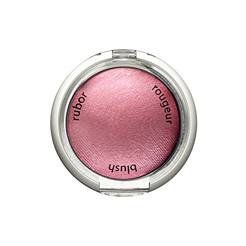 (Palladio Baked Blush, Berry, 2.5g, Highly Pigmented and Shimmery Powder Blush, Apply Dry for Natural Glow or Wet for Dramatic Radiance, Easy to Blend Makeup Blush, Apply Blusher with Blush Brush)