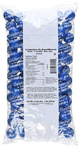 Sweetworks Celebration Gumballs, Blue, 120 ()