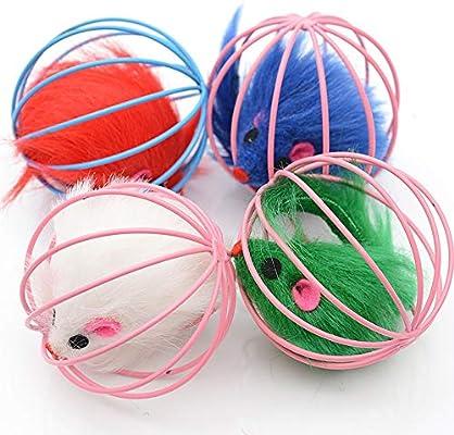 Kuaker - Bola de Juguete para Mascota, Conejo, Pelo, ratón, Jaula ...