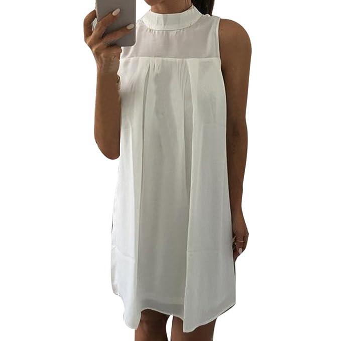 1ce9f89a6ceb Vestidos de baño para Mujer Blanco 2019 Mosstars Vestido Camiseta ...