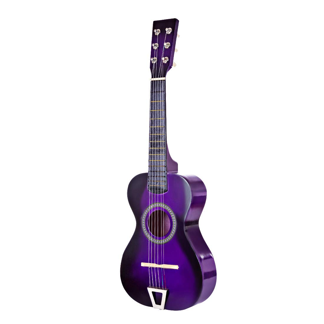 FenglinTech Kids Guitar, 23inch 6 Strings Children Wooden Acoustic Guitar Musical Instrument Toy for Children Beginner - (Purple)