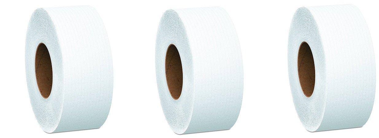 Scott 1000 Jumbo Roll JR. Commercial Toilet Paper (67805), 100% Recycled Fiber, 2-PLY, White, 12 Rolls / Case, 1000' / Roll (3-(12 Rolls / Case))