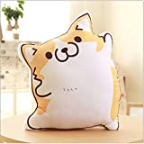 SQingYu Couples Corgi Pillow Anime Peripheral Quadratic Plush Toy Doll Stuffed Animal Plush Cushion Toys Boys Gift