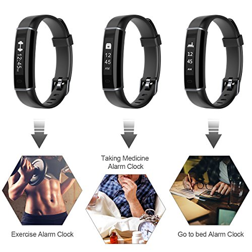 Fitness Tracker, EFOSHM Smart Fitness Activity Tracker Step Counter Calorie Counter Watch Pedometer, Slim Wearable Water Resistant Sleep Monitor Wristband Android/iOS by EFOSHM (Image #4)