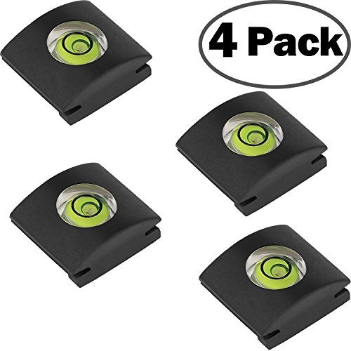 4Pack Camera Hot Shoe Level Hot Shoe Cover Hot Shoe Mount Protectors Bubble Spirit Level fits DSLR Camera Canon Sony Nikon Panasonic Fujifilm Olympus Pentax and More