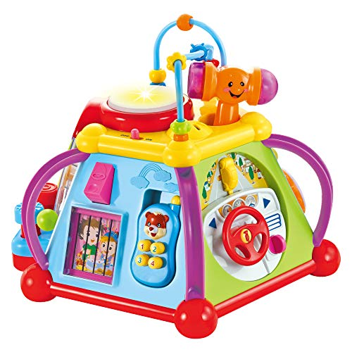 (CifToys Musical Activity Cube Play Center Educational Learning Baby Toys for Toddlers Kids Girls Boys -15 Different Activities and 6 Sides with Lights and Sounds )