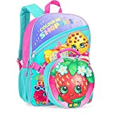 Strawberry Shopkins 16' Backpack With Detachable Lunch Bag