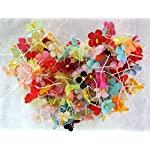 ICRAFY-200-pcs-Assorted-Tiny-Daisy-Mulberry-Paper-Flower-White-Rope-Wire-Artificial-Craft-Scrapbook-Wedding-Supply-Accessory-DIY-Assorted-Color-Size-15-cm