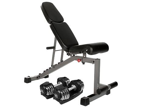 Combo oferta soporte de inclinación disminución de fitness XMark recubierto banco xm-4440 con par