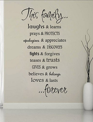 Bo Wall Stickers Wall Decals Style Family Quote English Words