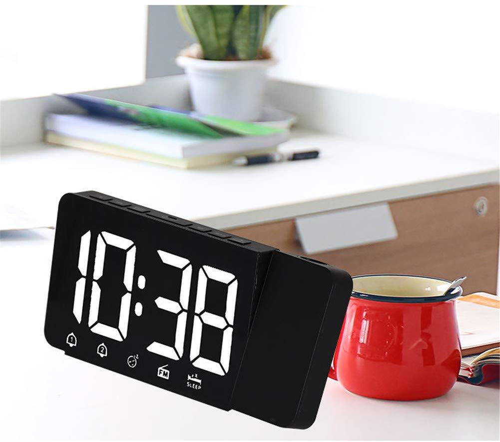 YXST Reloj De ProyeccióN De Radio FM FuncióN De Despertador ...