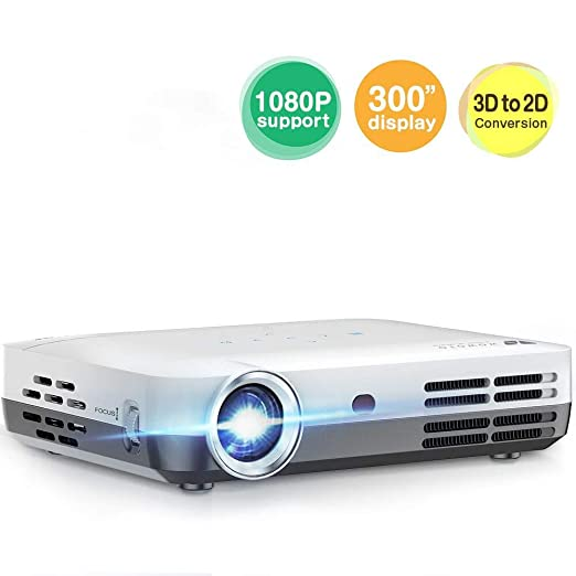 AI LIFE Proyector Mini proyector de 10000 lúmenes LED DLP 1280x800 ...