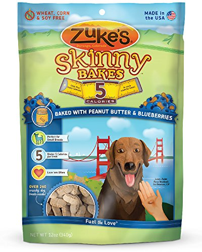 Zuke'S Skinny Bakes Dog Treats, Peanut Butter And Blueberries, 5-Calories, 12-Ounce