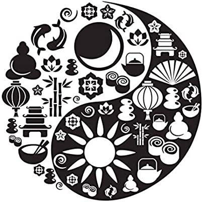 Jixiaosheng Yin Yang Símbolo Cocina Pegatinas De Pared Pegatinas ...