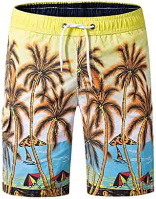 0409bcb764 Men's Swim Trunks Drawstring Slim Fit Quick Dry Loose Short Anchor Swim  Trunks with Mesh Lining