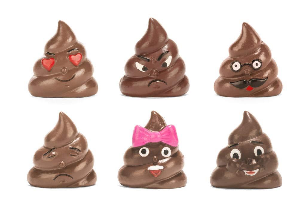 Kikkerland Poop/Poo Emoji Refrigerator/Fridge Magnets - Set of 6