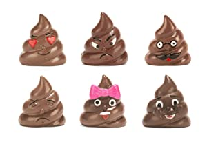 Kikkerland Poop/Poo Emoji Refrigerator/Fridge Magnets - Set of 6