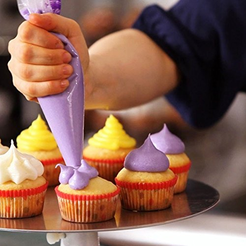 Piping Bags for decorating cake with frosting.