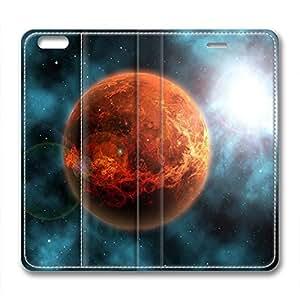 DIY Galaxy Design Leather Case for Iphone 6 Plus Mars