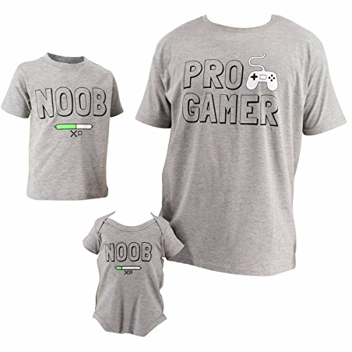 UB Daddy and Me Pro Gamer and Noob Father's Day Shirts (5t) -