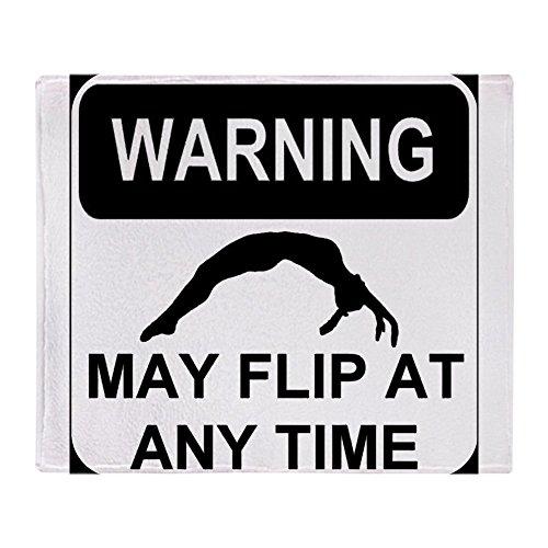 CafePress Warning May Flip Soft Fleece Throw Blanket, 50