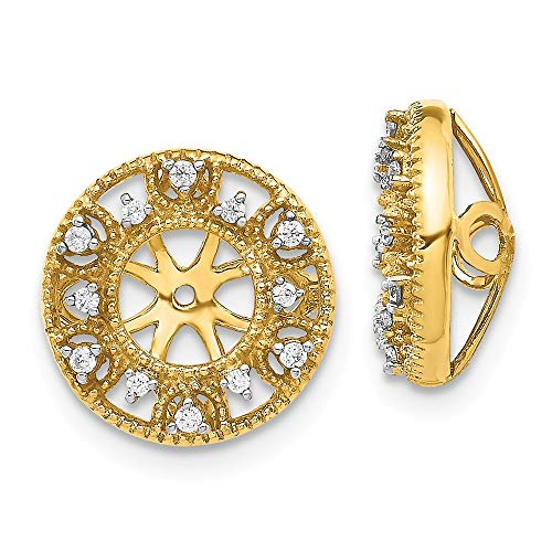14k Fancy Diamond Earring...