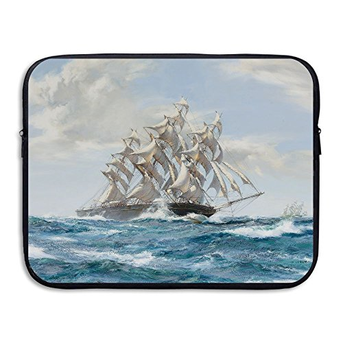Business Briefcase Sleeve Steam Powered Sailing Ship Laptop Sleeve Case Cover Handbag For 15 Inch Macbook Pro / Macbook Air / Asus / Dell / Lenovo / Hp / Samsung / Sony / Women & Men