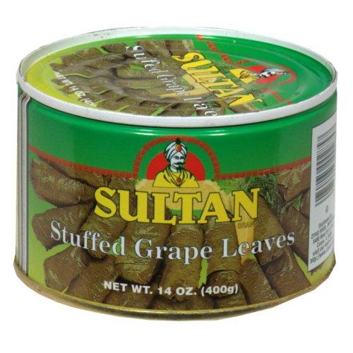 SULTAN GRAPE LEAVES STFD, 14 OZ (Grape Leaves Sultan)