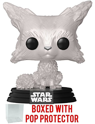 Funko Pop  Star Wars  The Last Jedi   Vulptex  Crystalline Fox  Vinyl Bobble Head Figure  Bundled With Pop Box Protector Case