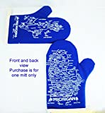 Michigan Oven Mitt-Upper & Lower Peninsula Map-Blue-Qty-1
