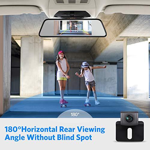 Auto Vox M8 Touch Screen Mirror Dash Cam 1296p Fhd Front