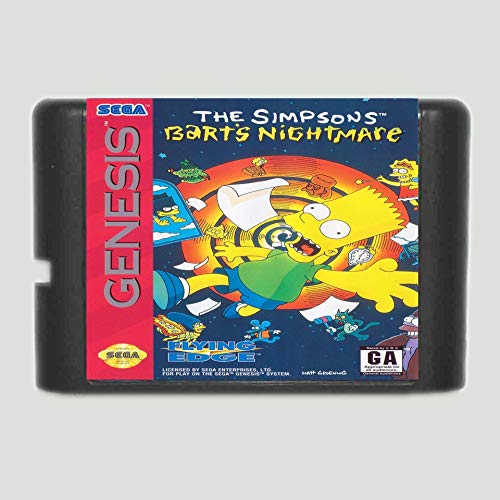 Goonpetchkrai.rapat7498 The Simpsons Bart'S Nightmare 16 Bit Md Game Card For Sega Mega Drive For Genesis